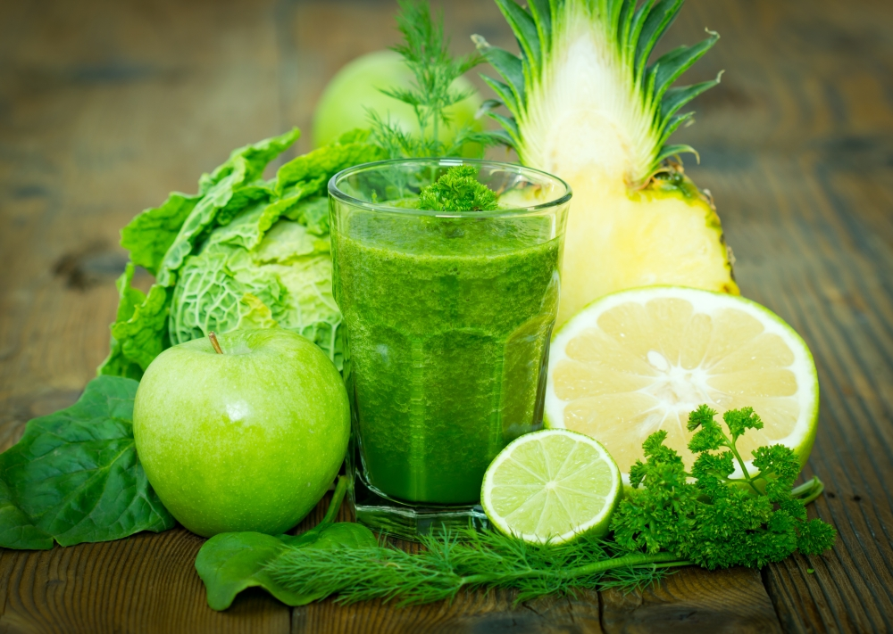 Fat Burning Green Tea and Vegetable Smoothie