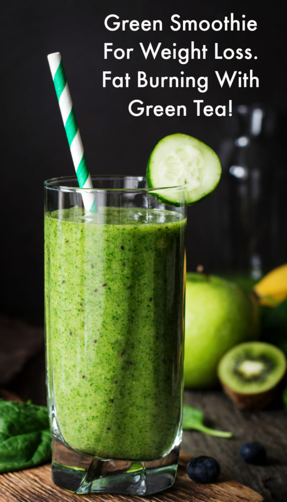 Fat burning green smoothie for weight loss