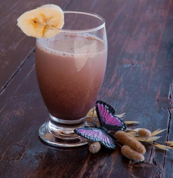 chocolate cherry banana raspberry smoothie