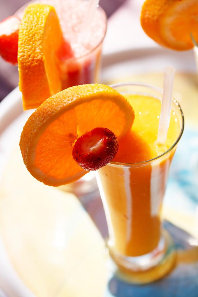 orange peach smoothie
