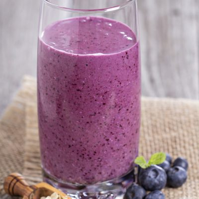blueberry tofu high protein smoothie recipe