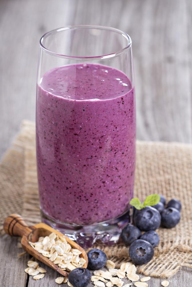 Blueberry Tofu High Protein Smoothie