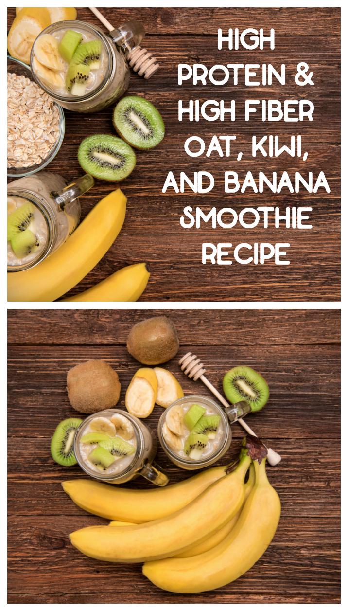 Oats, Kiwi & Almond Protein Smoothie