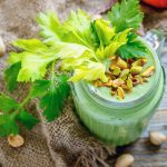 Pistachio, Mango-Kale Green Smoothie