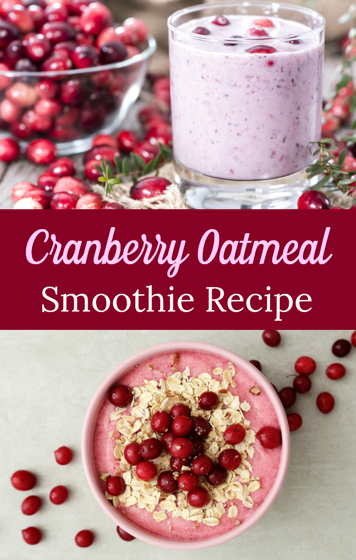 Cranberry Chia Oat Smoothie