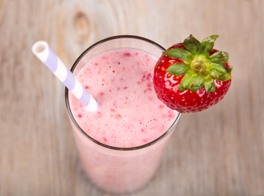 strawberry tofu smoothie