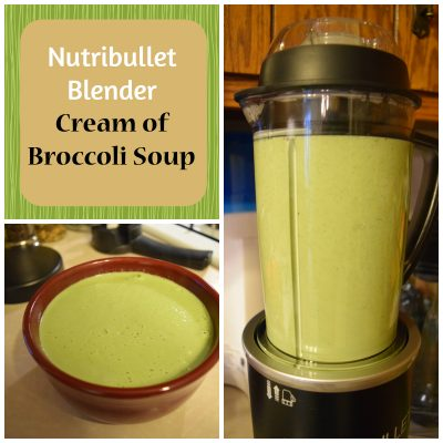 Nutribullet Rx cream of broccoli soup recipe