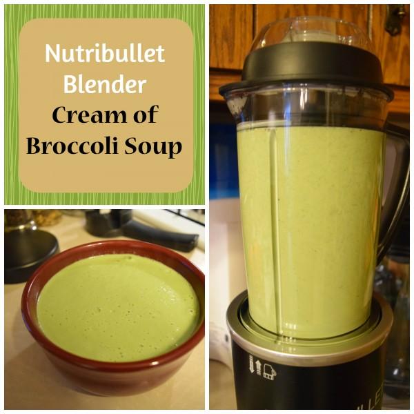 Nutribullet Rx cream of broccoli soup recipe