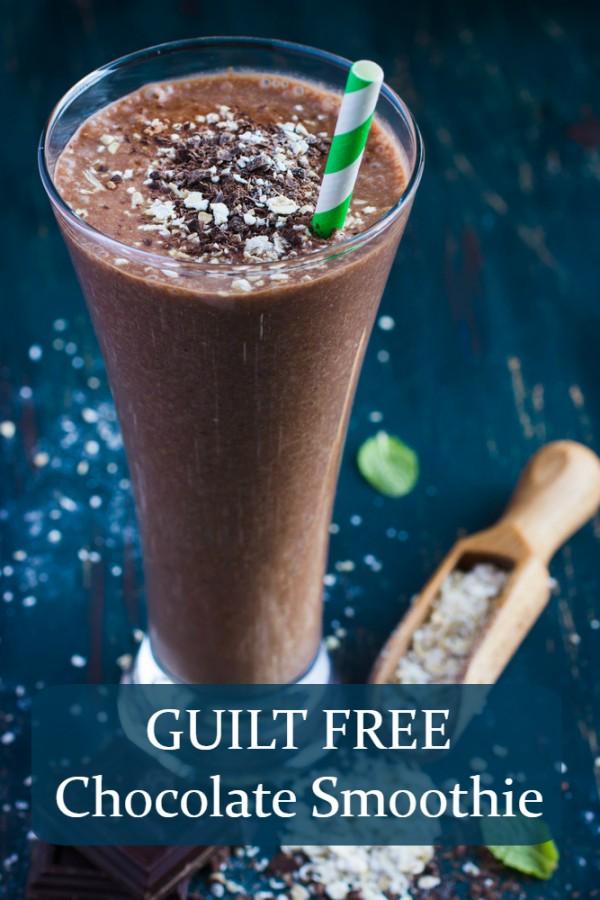 guilt free chocolate smoothie recipe