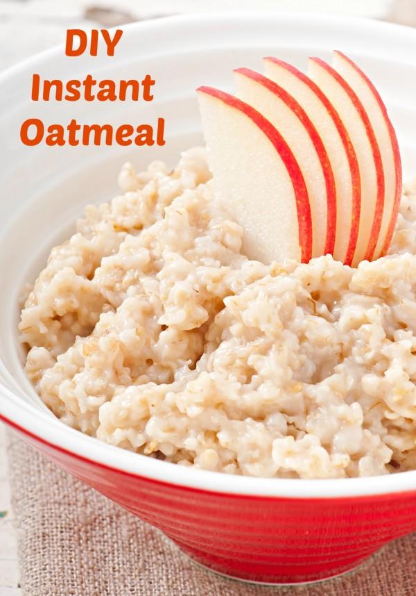 DIY instant oatmeal