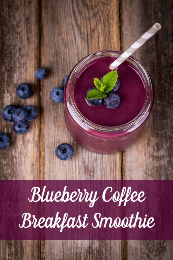 Blueberry coffee smoothie